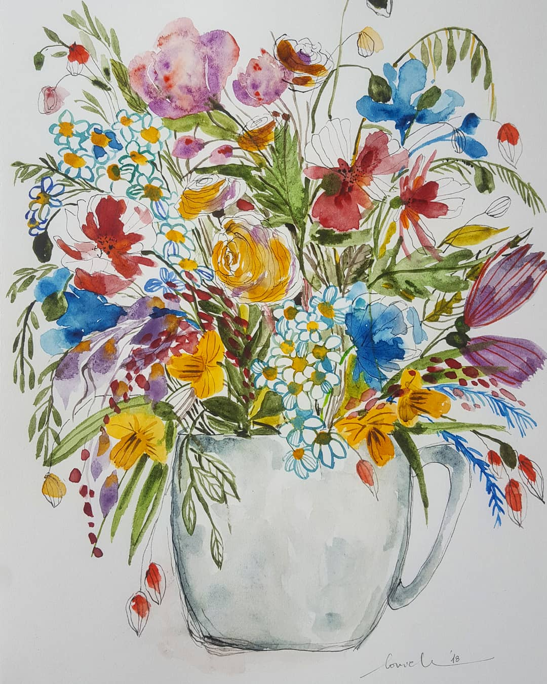 Flowers In Cup