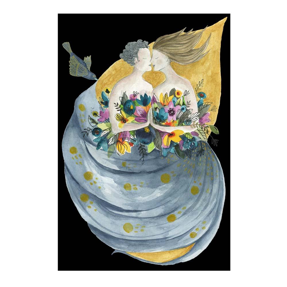 Wedding watercolor painting