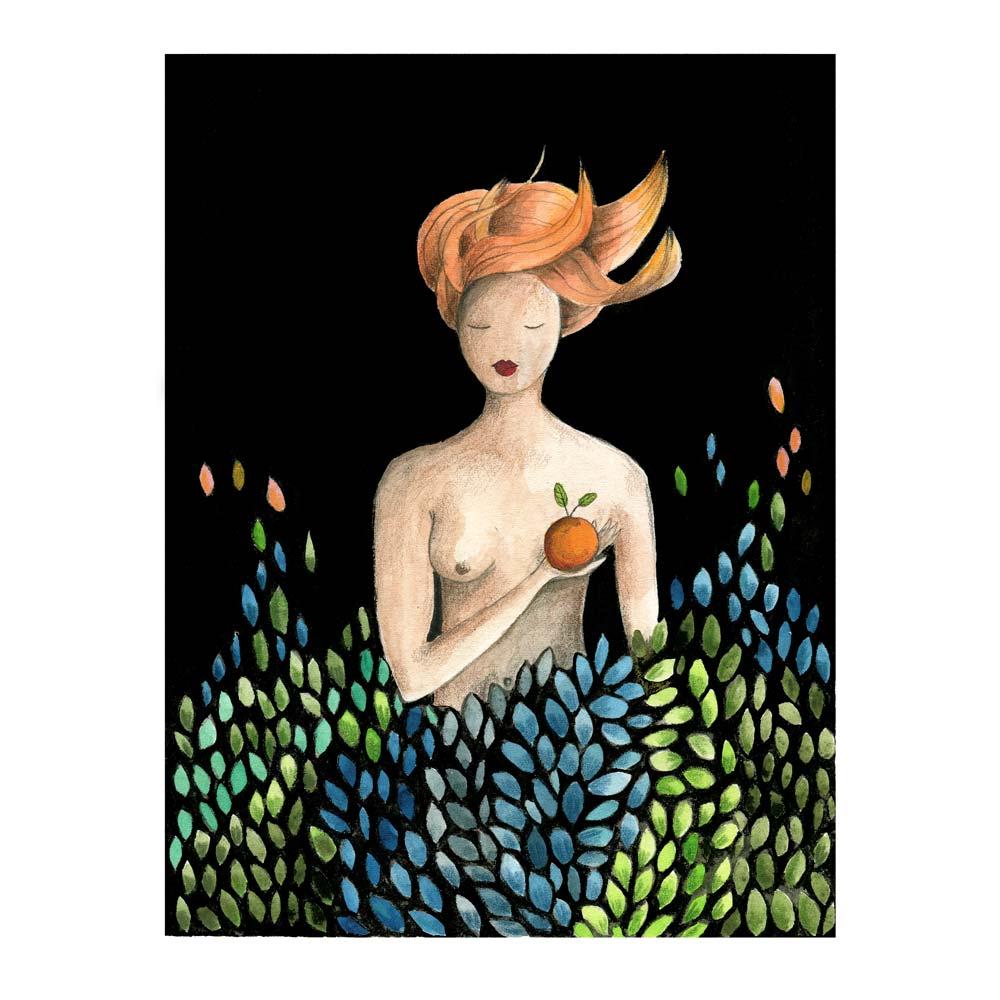 Woman with Orange print
