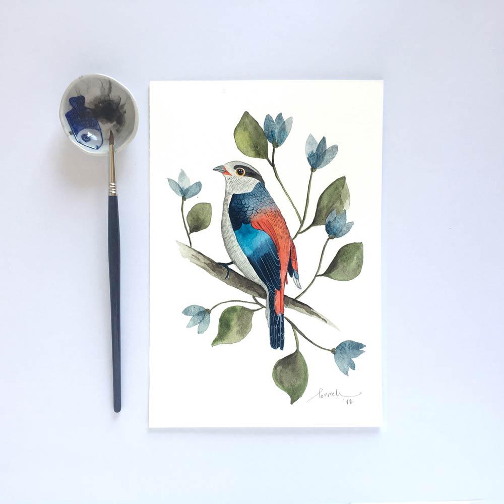 Bird Original watercolor painting
