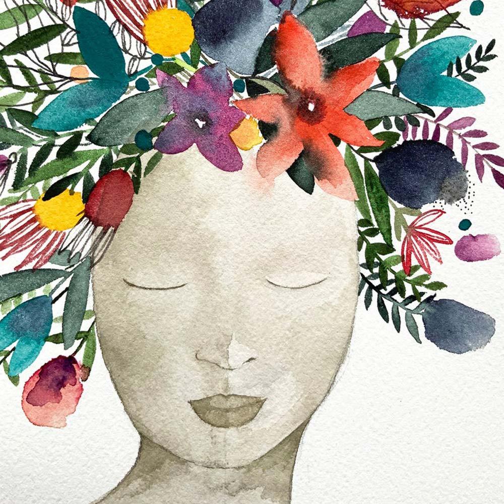 Mother nature original watercolor