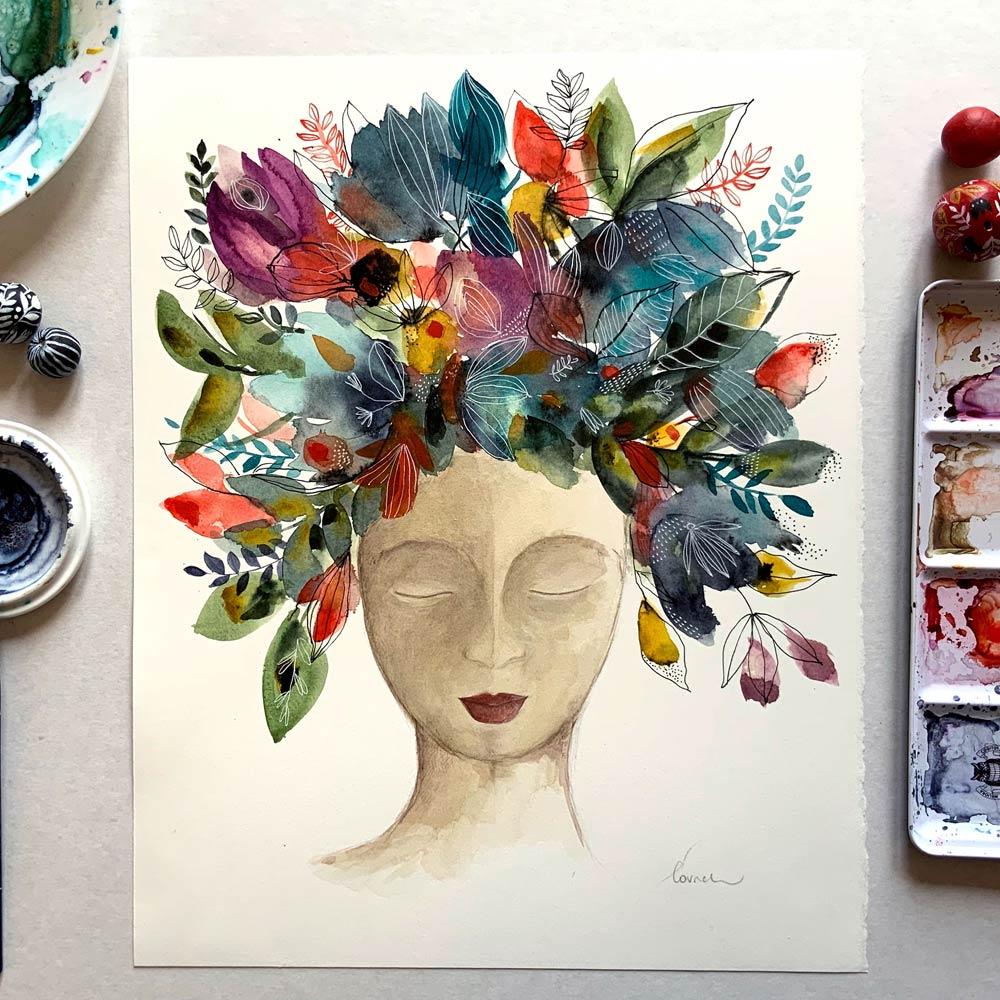 Mother nature #10 original watercolor painting