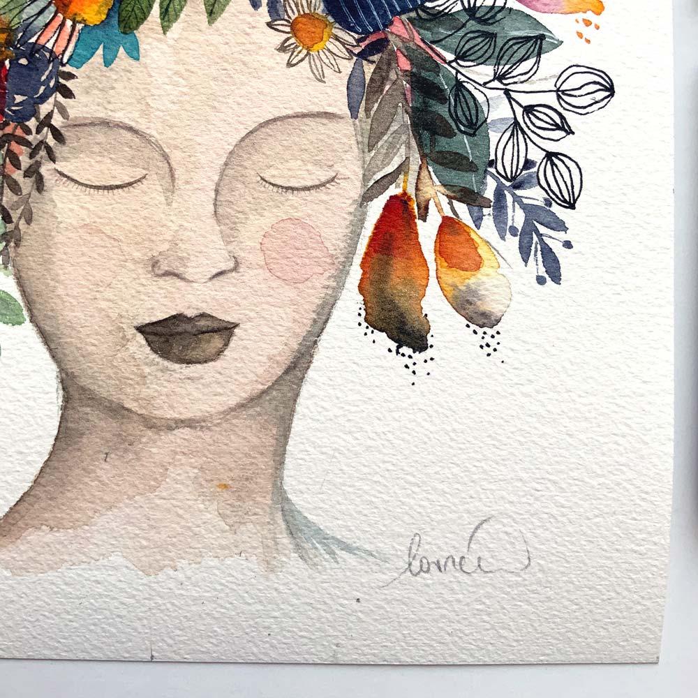 Mother nature #6 original in watercolor
