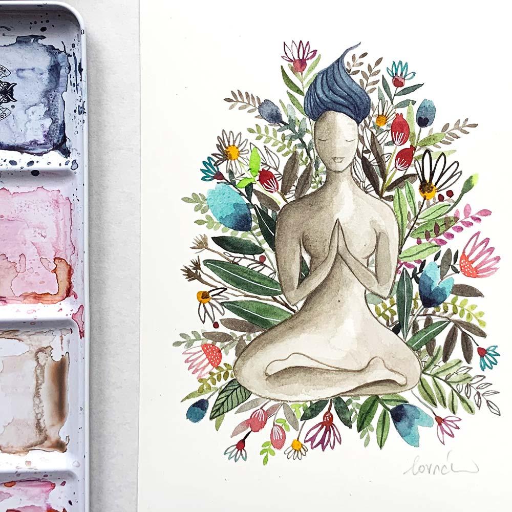 Inner Heart in watercolor