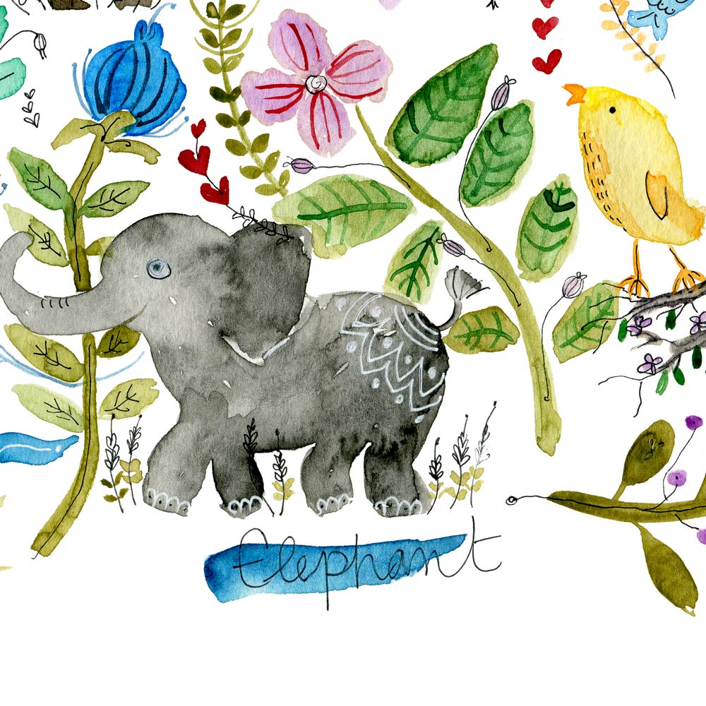 Animals print detail