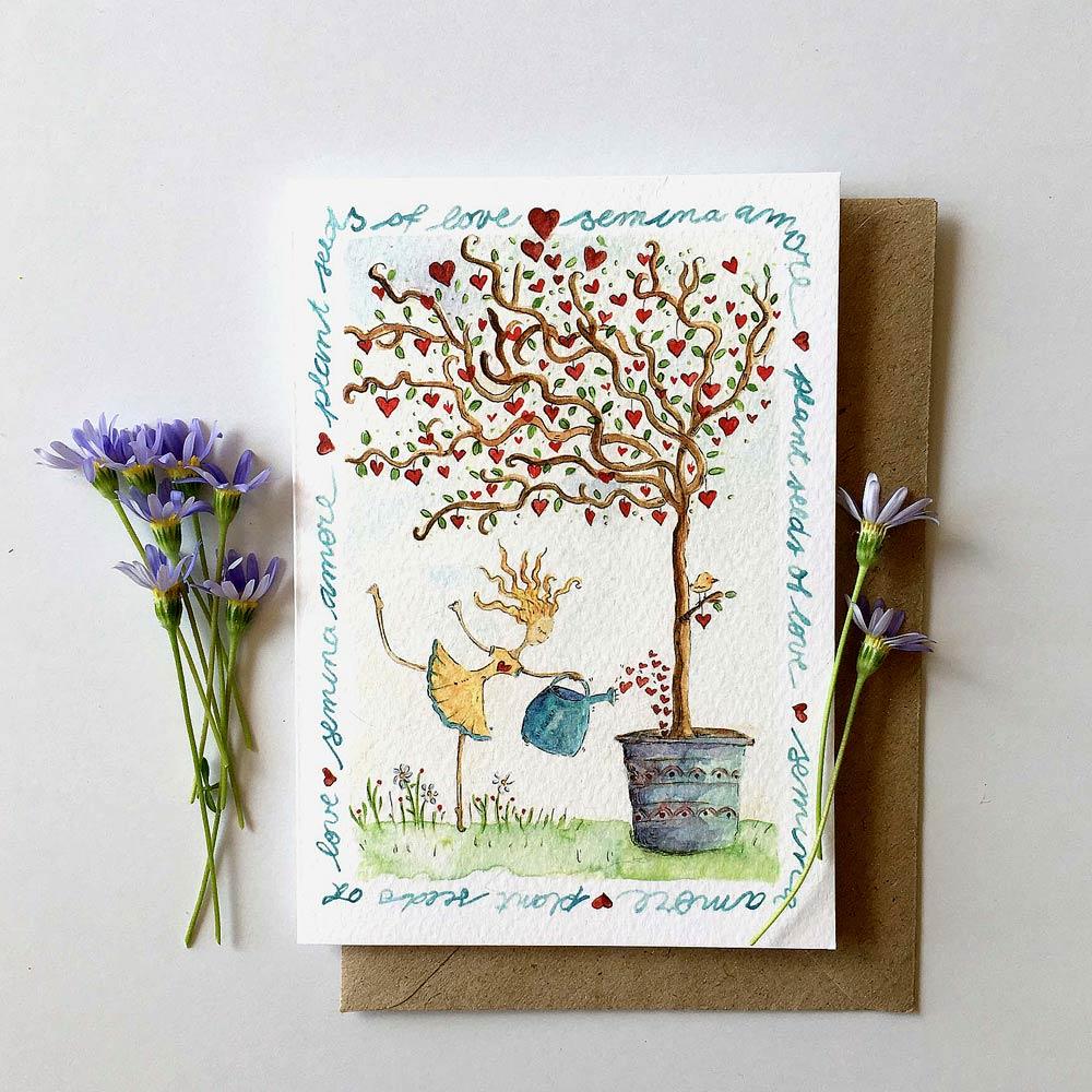 Semina amore printed card