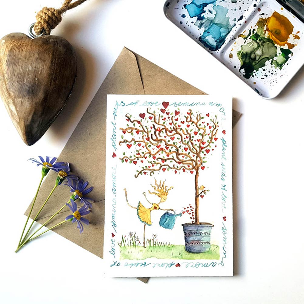 Semina amore greeting card for sale