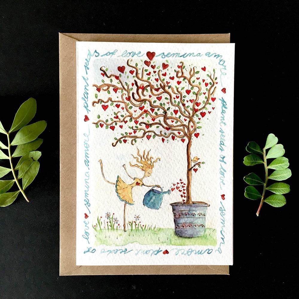 Semina amore greeting card purchase