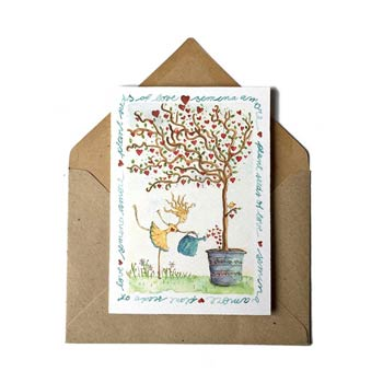 Semina amore greeting card