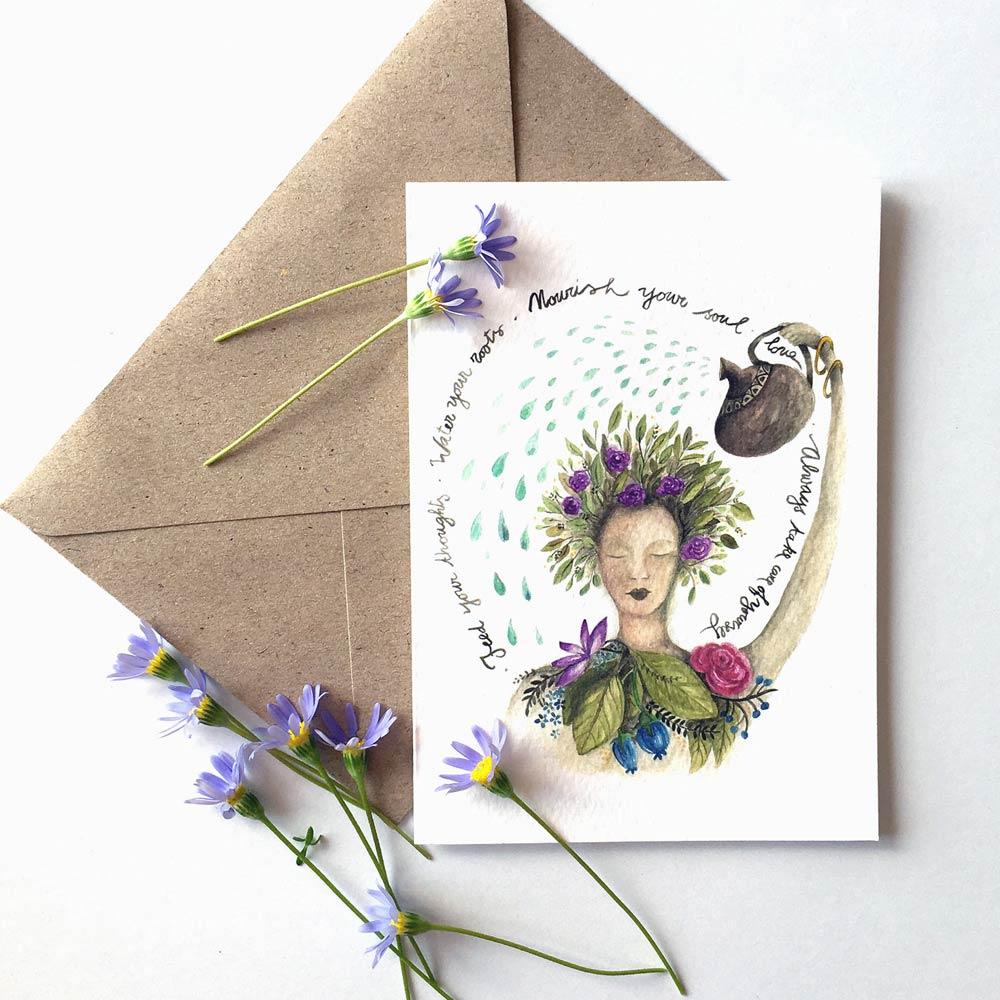 Love yoursef post card