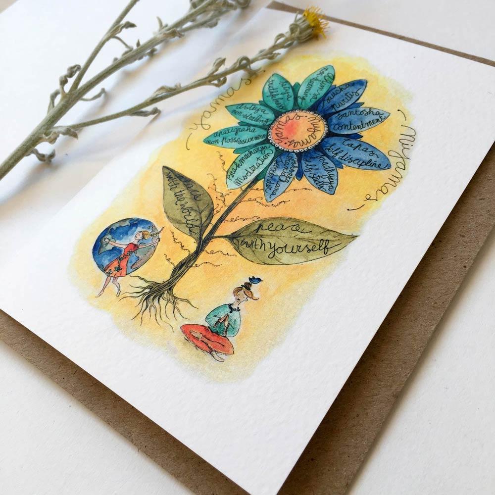 Yamas & Niyamas card