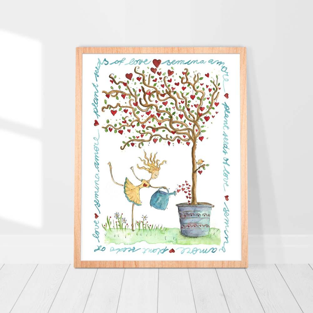 Semina amore illustration in frame