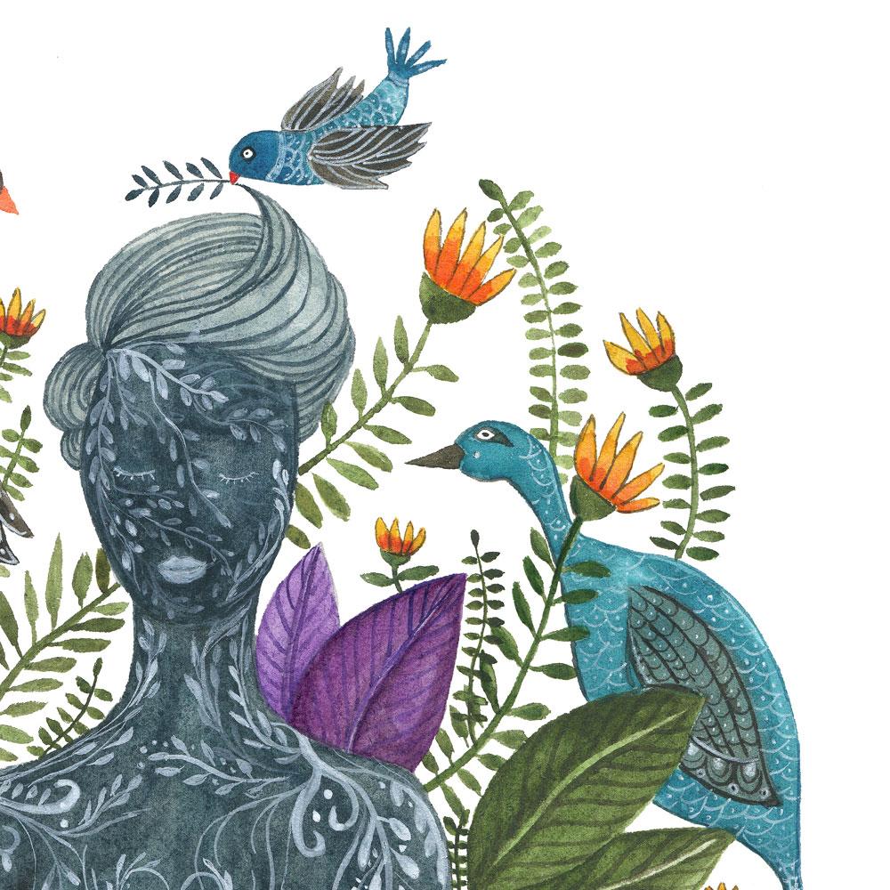 Inner Yoga print detail