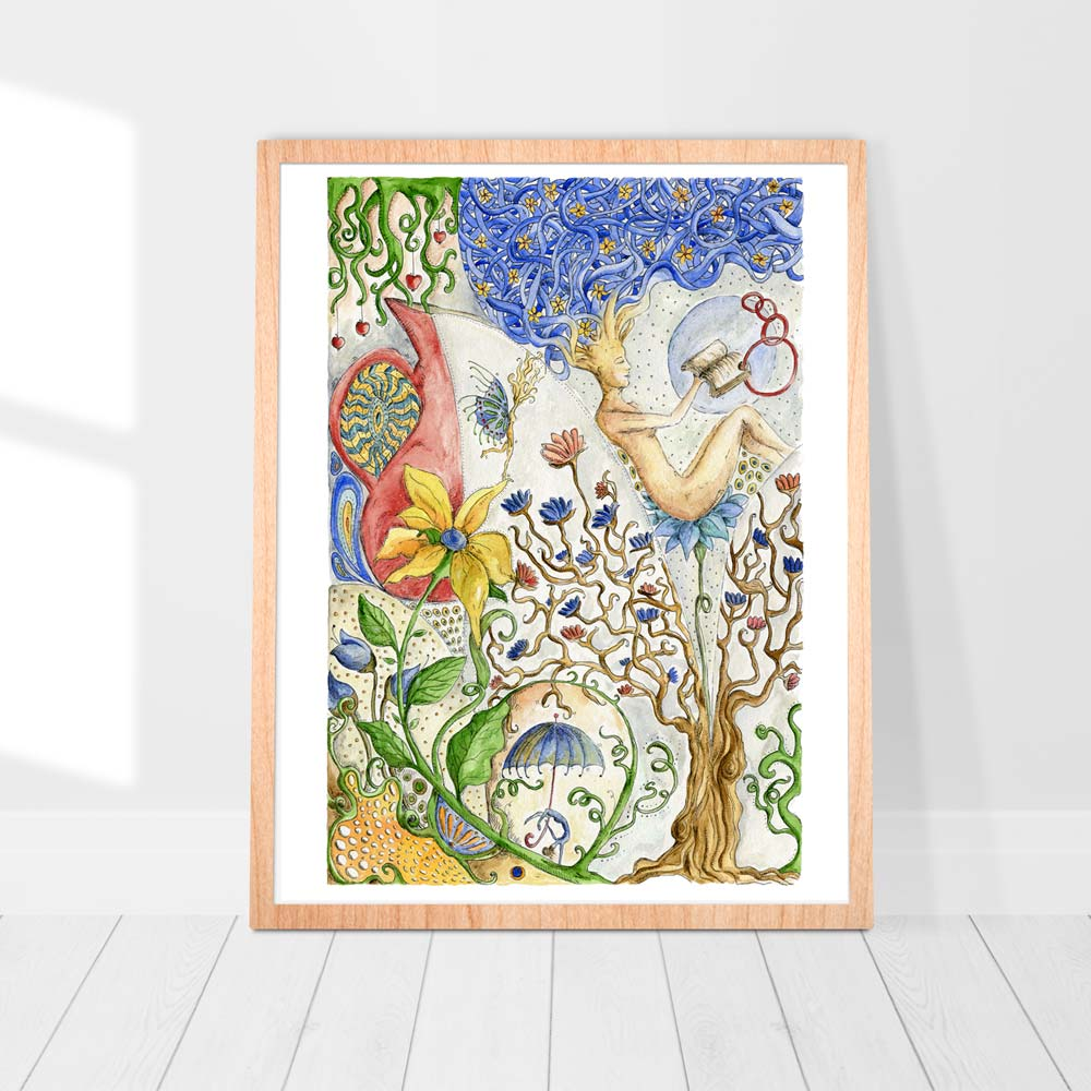 Tree of life watercolor painting
